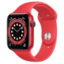 Apple Watch Series 6 44mm (PRODUCT)RED with Red Sport Band